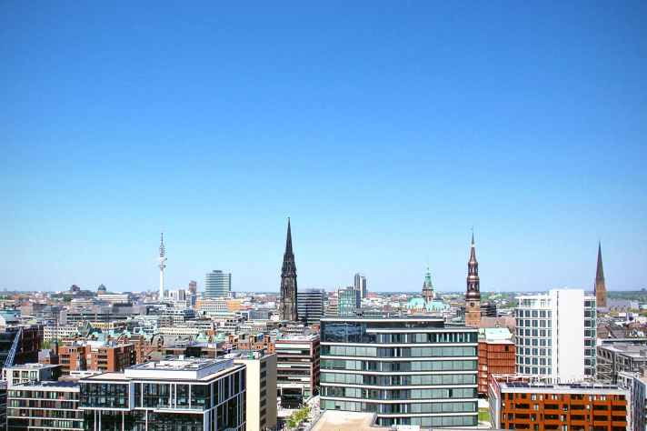 skyline hamburg city buildings